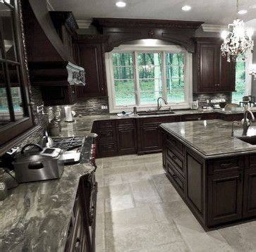 kitchen  gray tile floor design pictures remodel