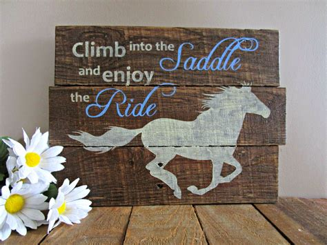 northwoods attic climb   saddle horse pallet signs