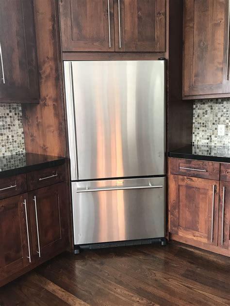 corner fridge small cottage kitchen kitchen remodel