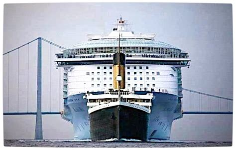 titanic scale to modern ships titanic vs modern cruise ship pics
