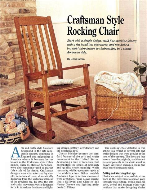indoor rocking chair plans 17 best ideas about craftsman rocking chairs on