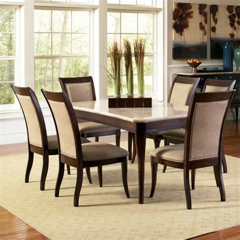 steve silver company marseille 5 marble top dining