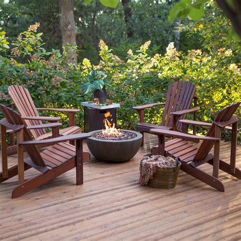 chairs around pit belham living richmond deluxe adirondack pit chat set