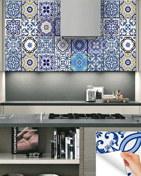 kitchen wall decor tiles 24 tile decals mexican tile stickers bathroom decor ideas 6415