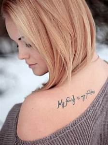 50 Inspirational Saying, Lettering and Quotes Tattoos