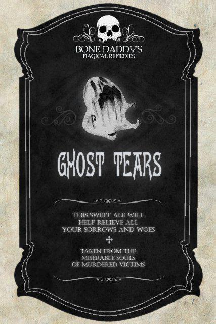 ghost tears label halloween labels halloween labels