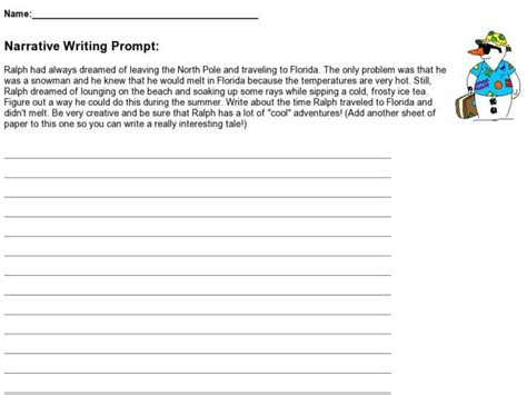 Descriptive Essay Topics For 6th Graders by 6th Grade Narrative Essay Prompts