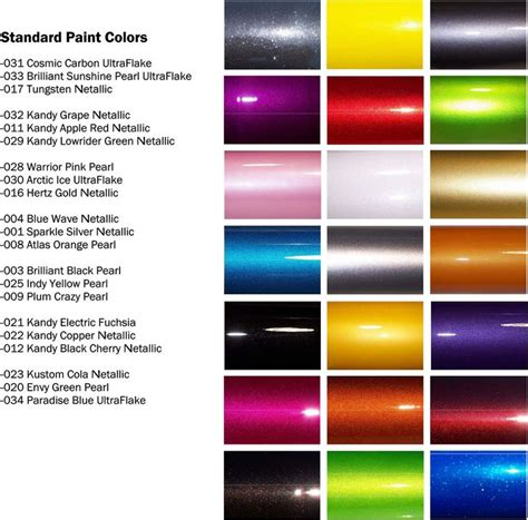 maaco paint selection spraying paint color chart car