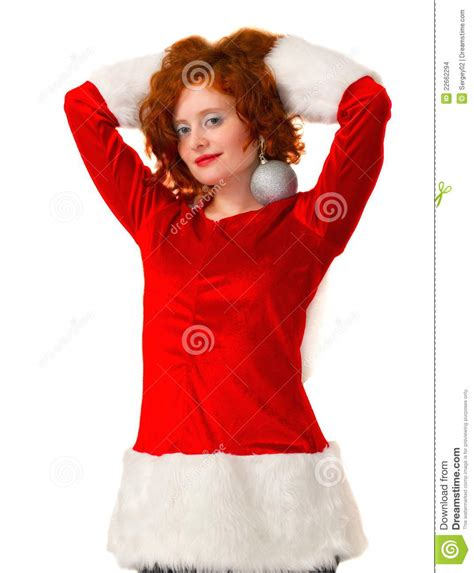 Santa Claus With Maiden In Bright Clothes Stock Maiden Stock Images Image 22662294