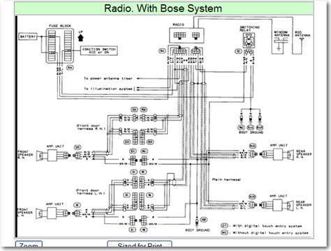 Wiring Diagram For Nissan Maxima Bose Stereo Factory