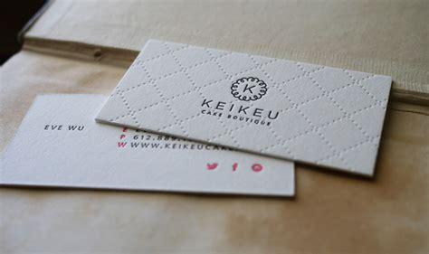 letterpress business card keikeu cardrabbitcom