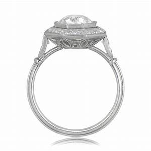 230ct octagon halo engagement ring estate diamond jewelry With octagon wedding ring