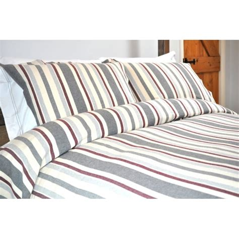 Design Port Bedding by Design Port Orkney Maroon Grey Cotton Duvet Cover Design