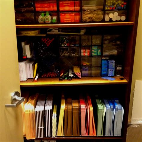 organized office supply closet at work awesome