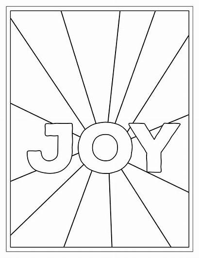 Coloring Printable Christmas Pages Joy Activity Paper