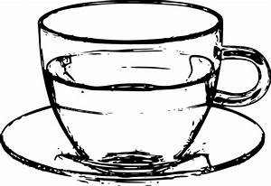 Water black and white cup of water clipart - WikiClipArt