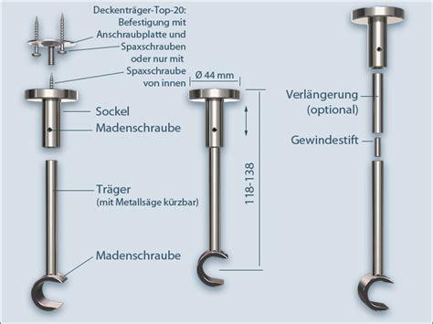 Gardinenstange Abstand Zur Decke by Gardinenstange Top 20 F 252 R Montage An Der Decke 1 L 228 Ufig