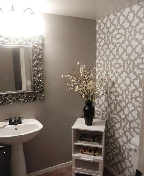 bathroom wall stencil ideas diy bathroom makeover using stencils stencil stories stencil stories