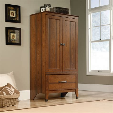 Small Clothing Armoire by Sauder Carson Forge Armoire