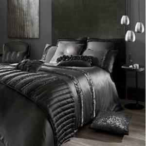 Parure De Lit Noir : la parure de lit satin luxe et confort ~ Melissatoandfro.com Idées de Décoration