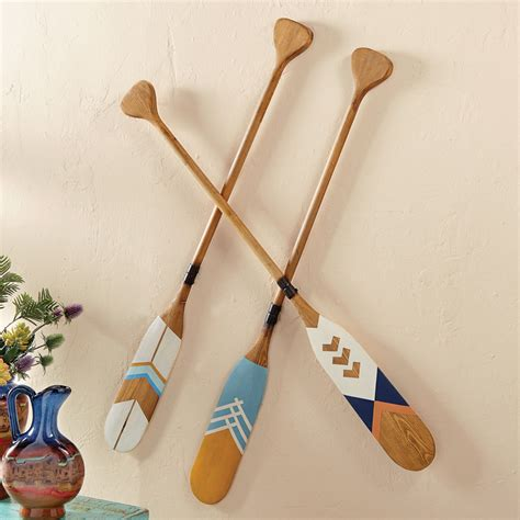 Decorative Wooden Oars And Paddles by Wood Decorative Canoe Paddles Set Of 3