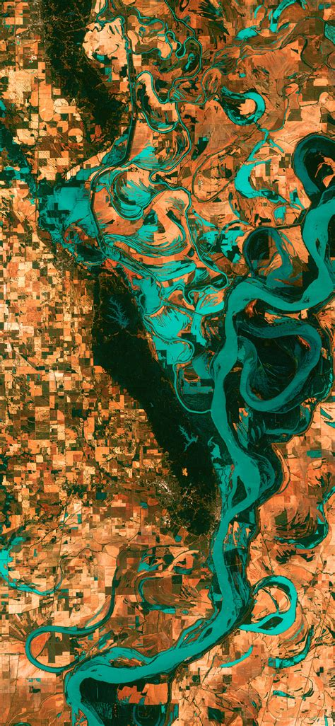 earthview mississippi river space art illustration