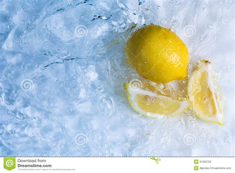 Cool Fresh Photo by Lemons In Cool Refreshing Water Stock Image Image 31392753