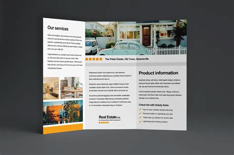 property pamphlet free real estate trifold brochure template in psd ai