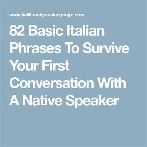 basic italian phrases  survive