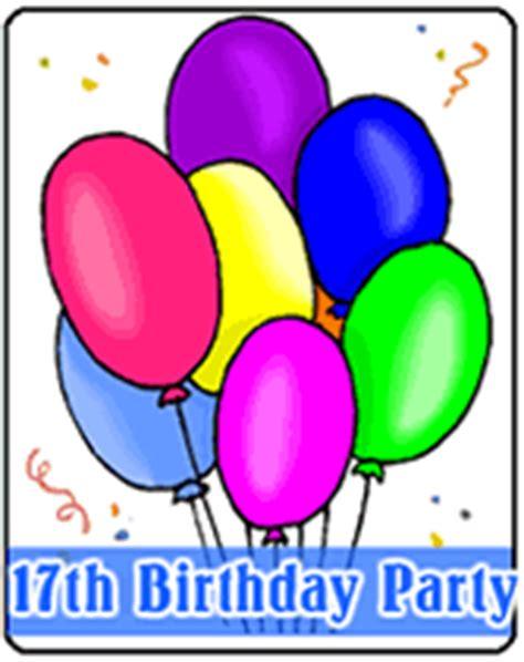 Printable 17th Birthday Party Invitations