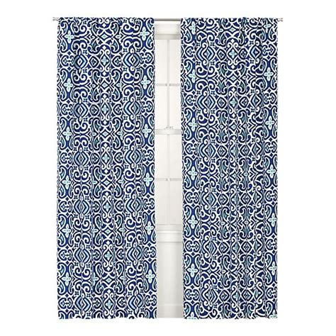 blue patterned curtains living rooms