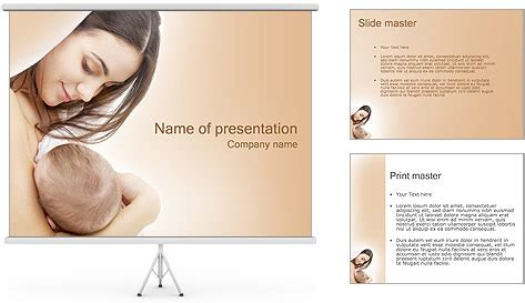 mother  baby powerpoint template backgrounds id
