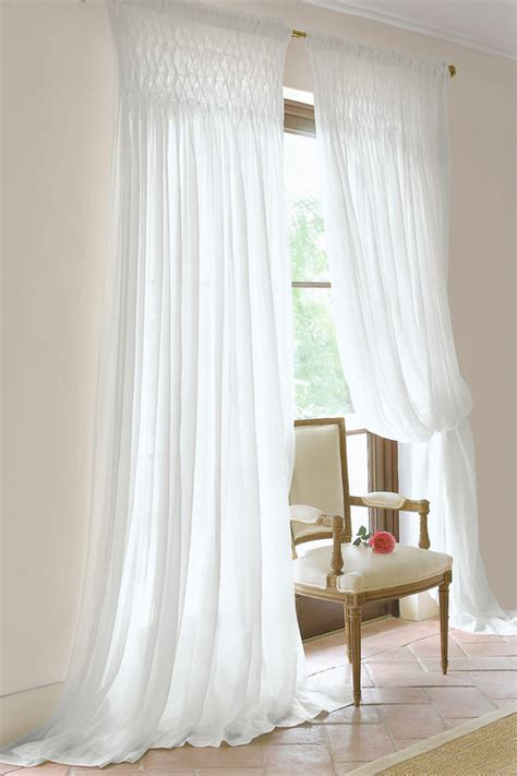 Smocked Curtains Drapes - where can i purchase these smocked sheers