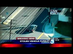 LAPD Los Angeles High Speed STOLEN CAR CHASE ends in HEAD ...