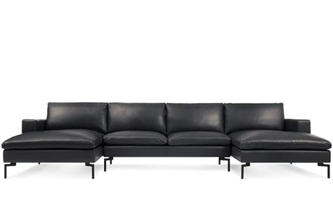 u sectional sofa new standard u shaped leather sectional sofa hivemodern