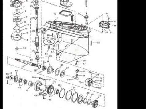 johnson outboard parts drawings youtube