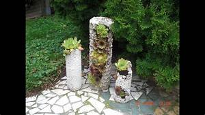 Pflanzen Kübel Beton : diy betons ule mit luftpolsterfolie zum bepflanzen pflanzturm aus beton pflanzen ideen ~ Sanjose-hotels-ca.com Haus und Dekorationen