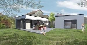 maison bois plain pied With entree de maison design 6 maison ossature bois plain pied