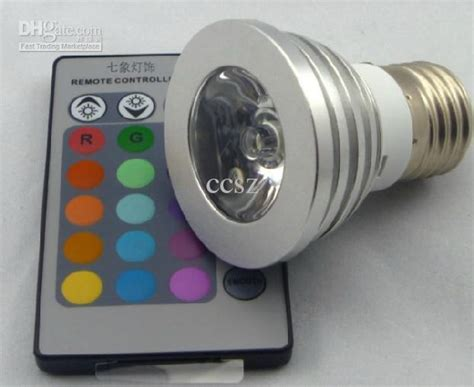 magic lighting led light bulb and remote with 16 different