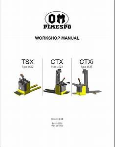 Om Pimespo Tsx  Ctx And Ctxi Pallet Stacker Workshop