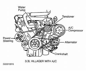 2002 Ford Escape Serpentine Belt Routing And Timing Belt Diagrams