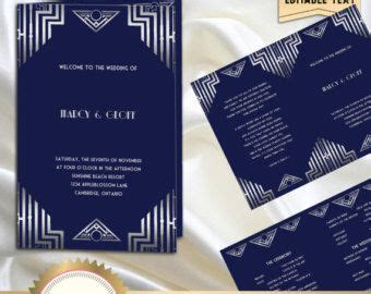 great gatsby art deco table cards   table numbers table