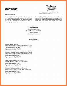 6 salary history request salary slip for How to write salary requirement in cover letter