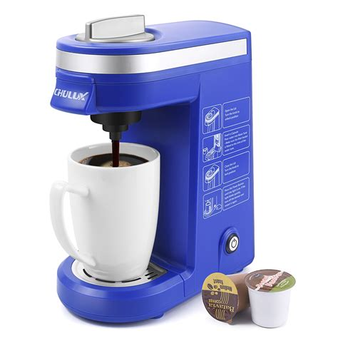 Today, we'll take you through 15 of the best single serve coffee machines currently on the market. CHULUX Coffee Maker Machine,Single Cup Pod Coffee Brewer with Quick Brew Technology,Blue
