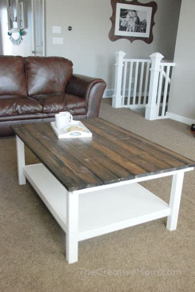build  farmhouse coffee table  storage  building plans  creative mom