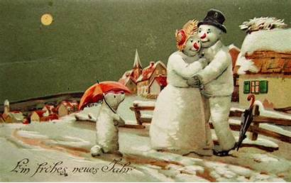 Snowmen Christmas Tree Ornaments Gay Wish