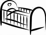 Crib Drawing Coloring Cot Bed Clipart Cartoon Sketch Sheet Sewing Template Screaming Job Templates sketch template
