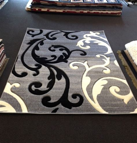 Black Area Rugs by Gray Black White Transitional Contemporary Modern Area