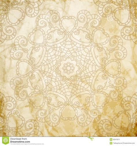 lace pattern background  indian ornament stock vector