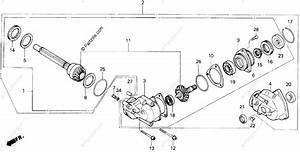 Honda Atv 1986 Oem Parts Diagram For Side Gear Case